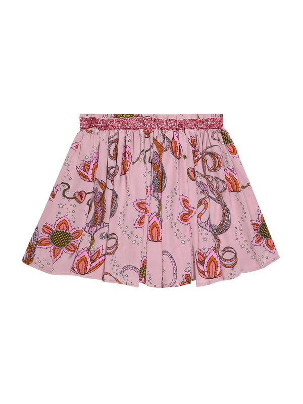 Kids Bird Skirt Pink