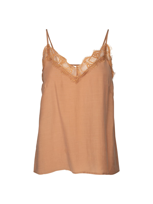 Camel Lace Camisole