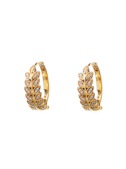 Cornelia Golden Leaf Earrings