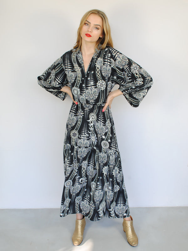 Tribal Leo Maxi Dress Black Diamond
