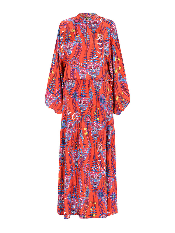 Tribal Leo Maxi Dress Electric Sunset