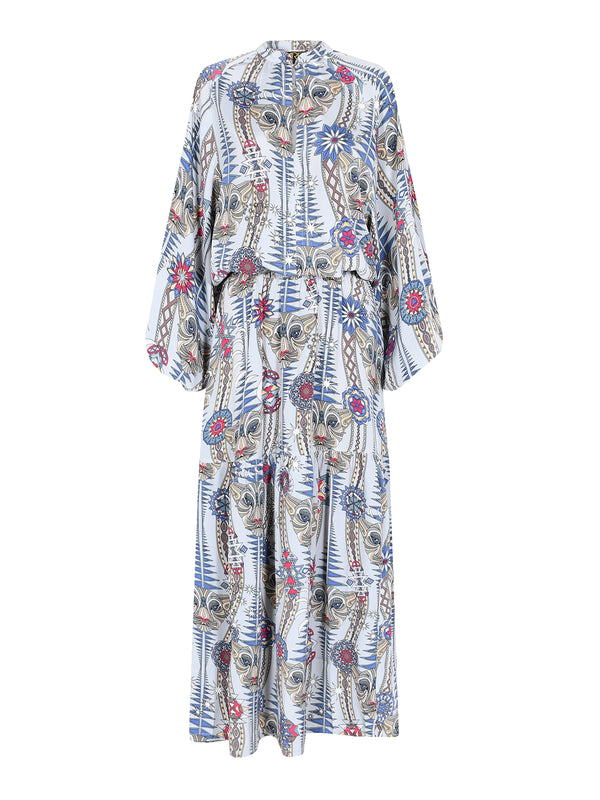 Tribal Leo Maxi Dress Snow Leopard