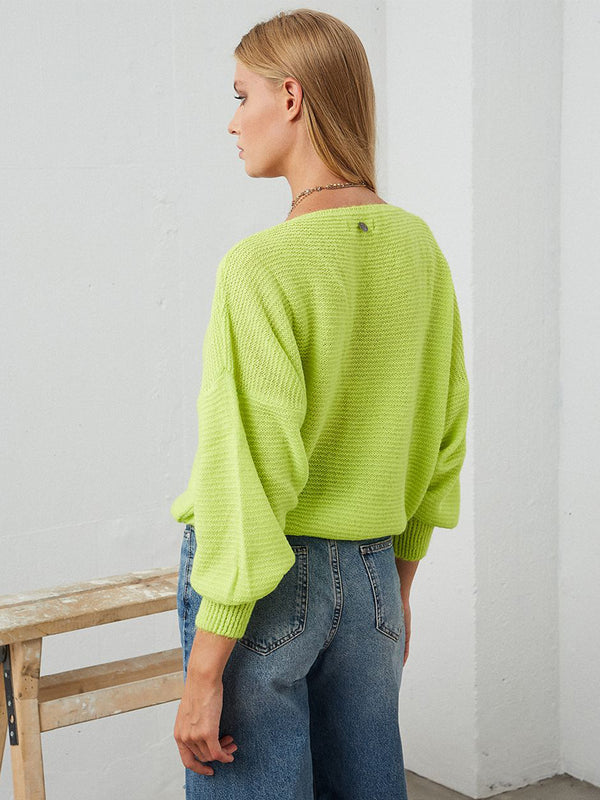 Lime Puffer Jumper
