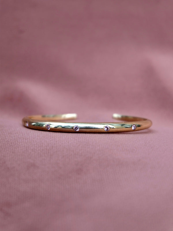 Lavender Gem Studded Bangle