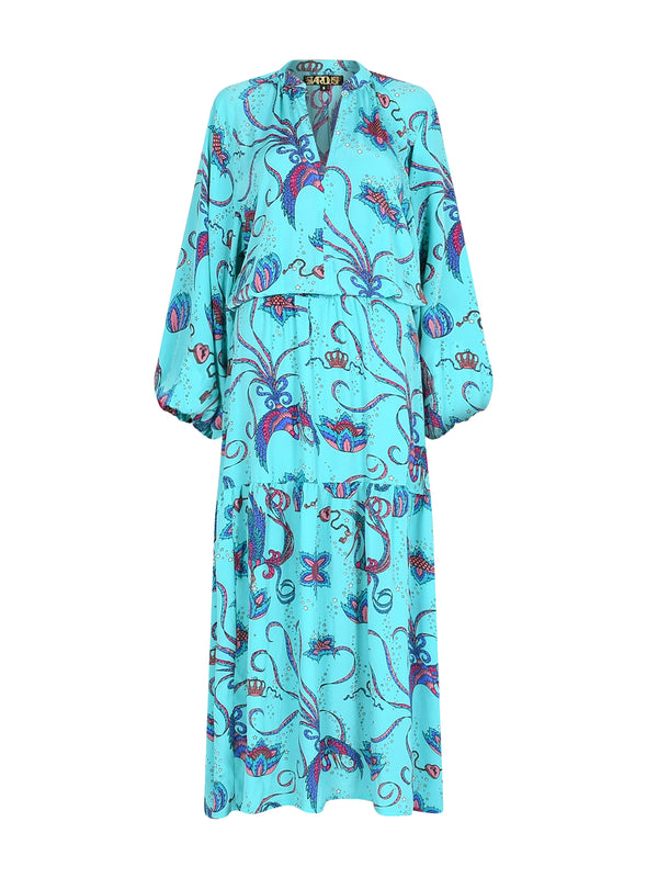 Leo Bird Maxi Dress Teal