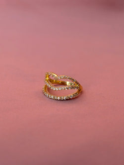 Champagne Lip Shaped Ring