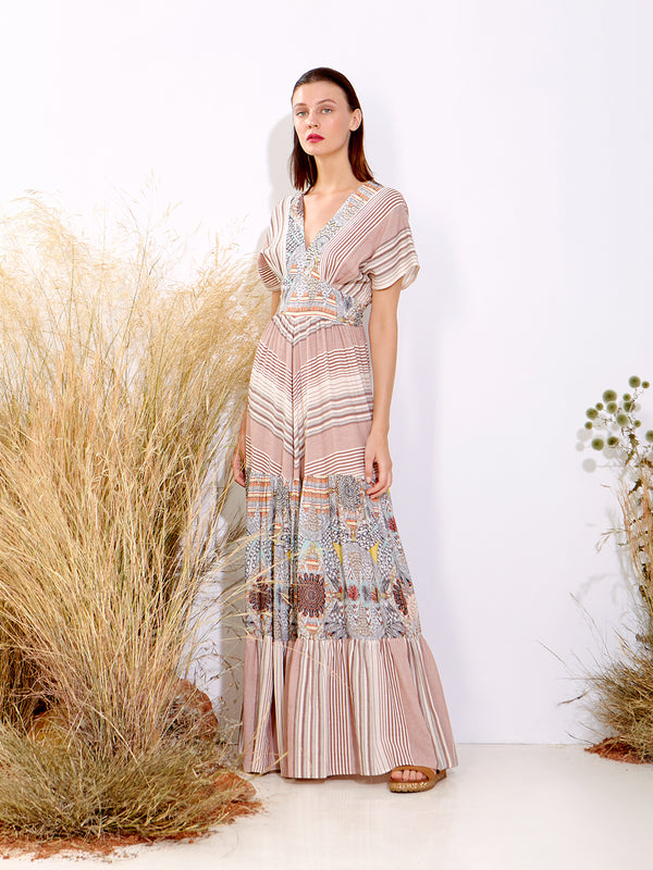 Bohemian Patterned Maxi Dress