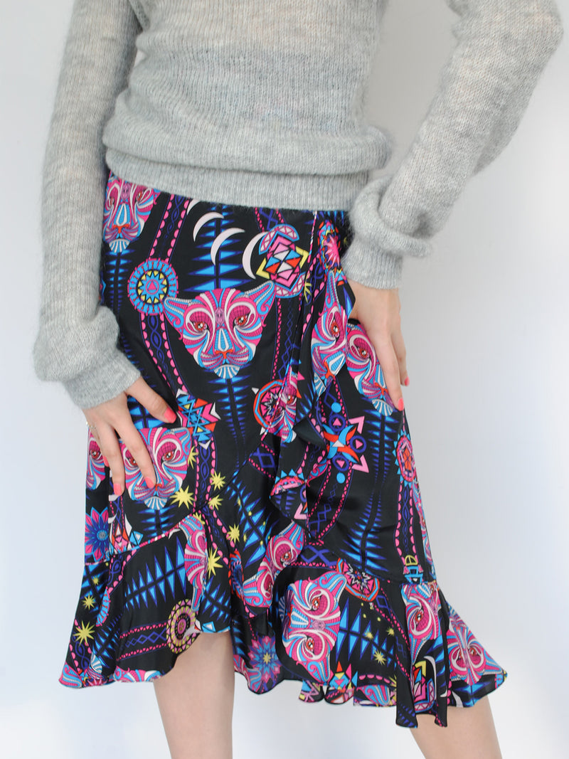 Tribal Mia Skirt Black Mamba