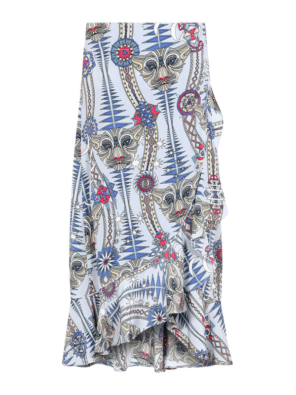 Tribal Mia Skirt Snow Leopard