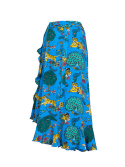 Tiger Mia Wrap Skirt Electric Blue