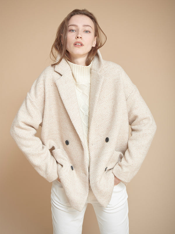 Mouta Herringbone Coat