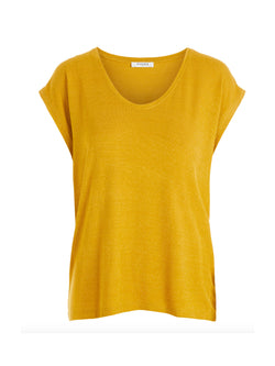 Mustard Metallic Striped T-Shirt