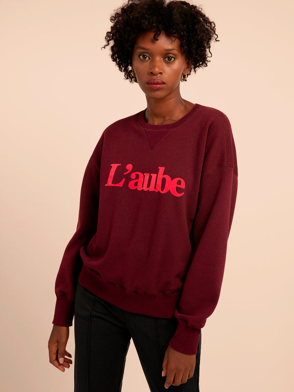 Nassika Bordeaux Sweatshirt