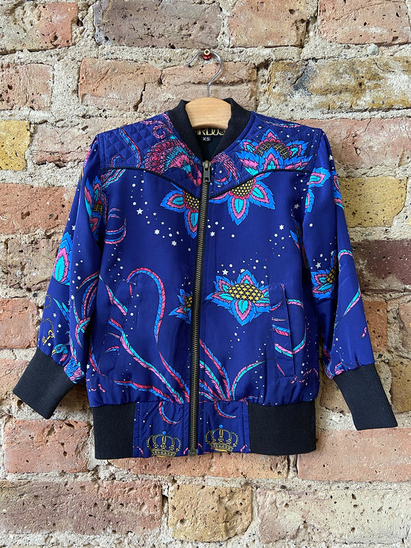 Kids Bird Bomber Jacket Navy