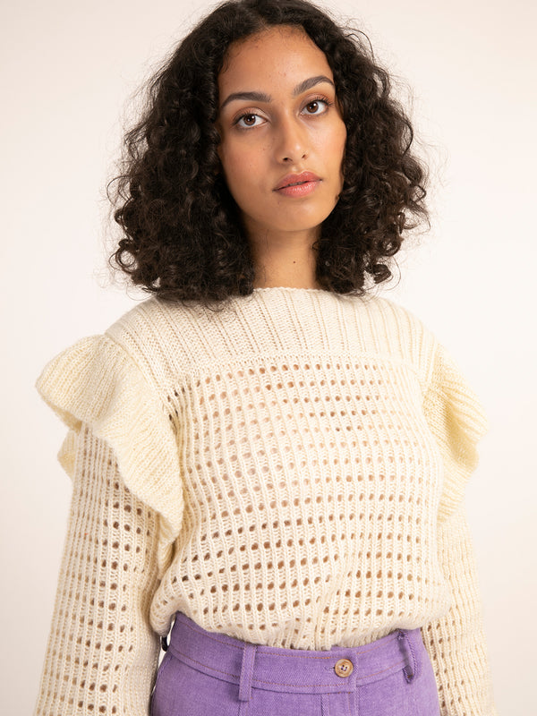 Netty Cream Sweater