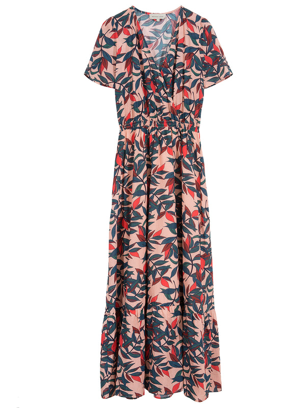 Norma Feuilles Print Dress