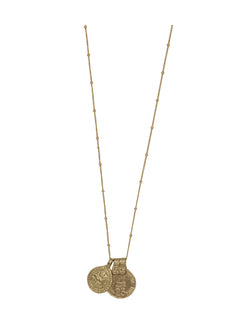 India Coin & Drop Necklace