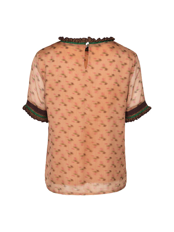 Camel Patterned Blouse