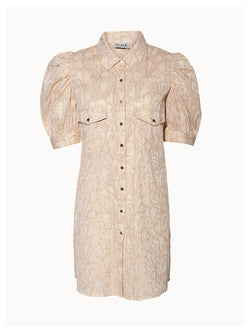 Paula Camel Shirt Dress