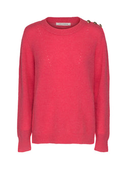 Pink Button Detail Jumper