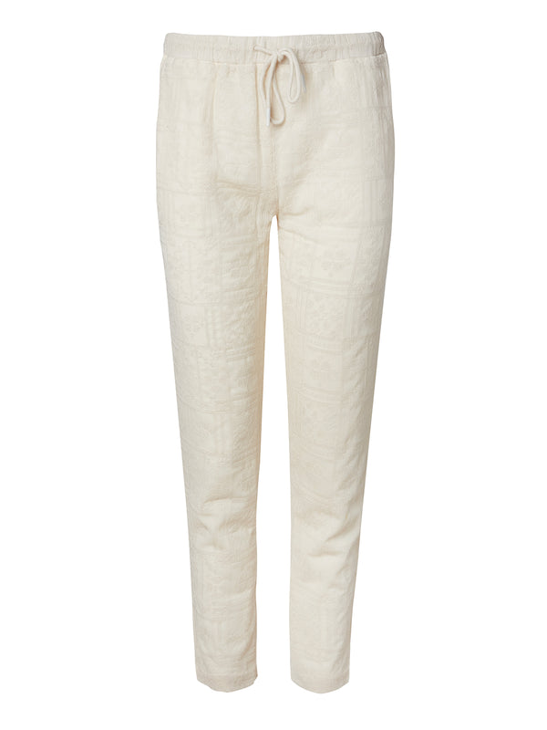 Winter White Poupy Trousers