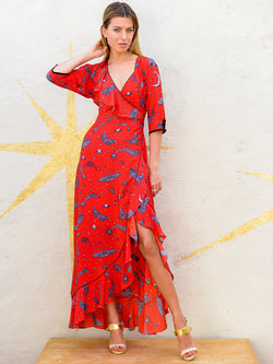 Moth Flamenco Maxi Dress Red