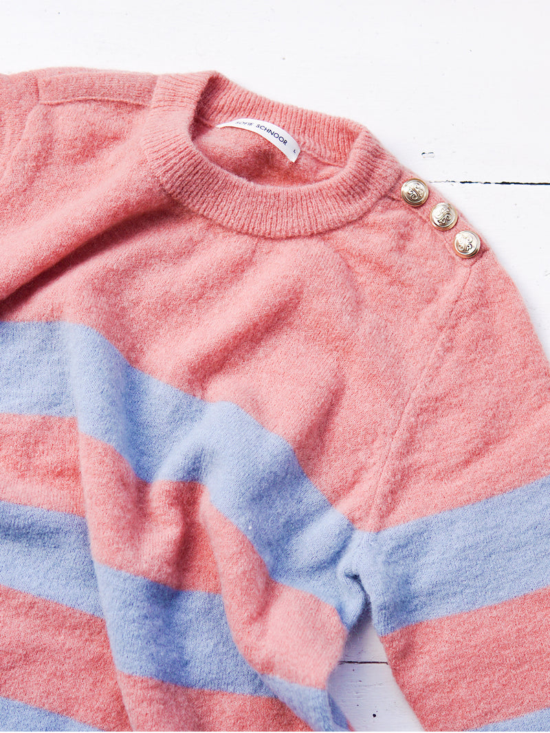 Rose Blue Striped Jumper