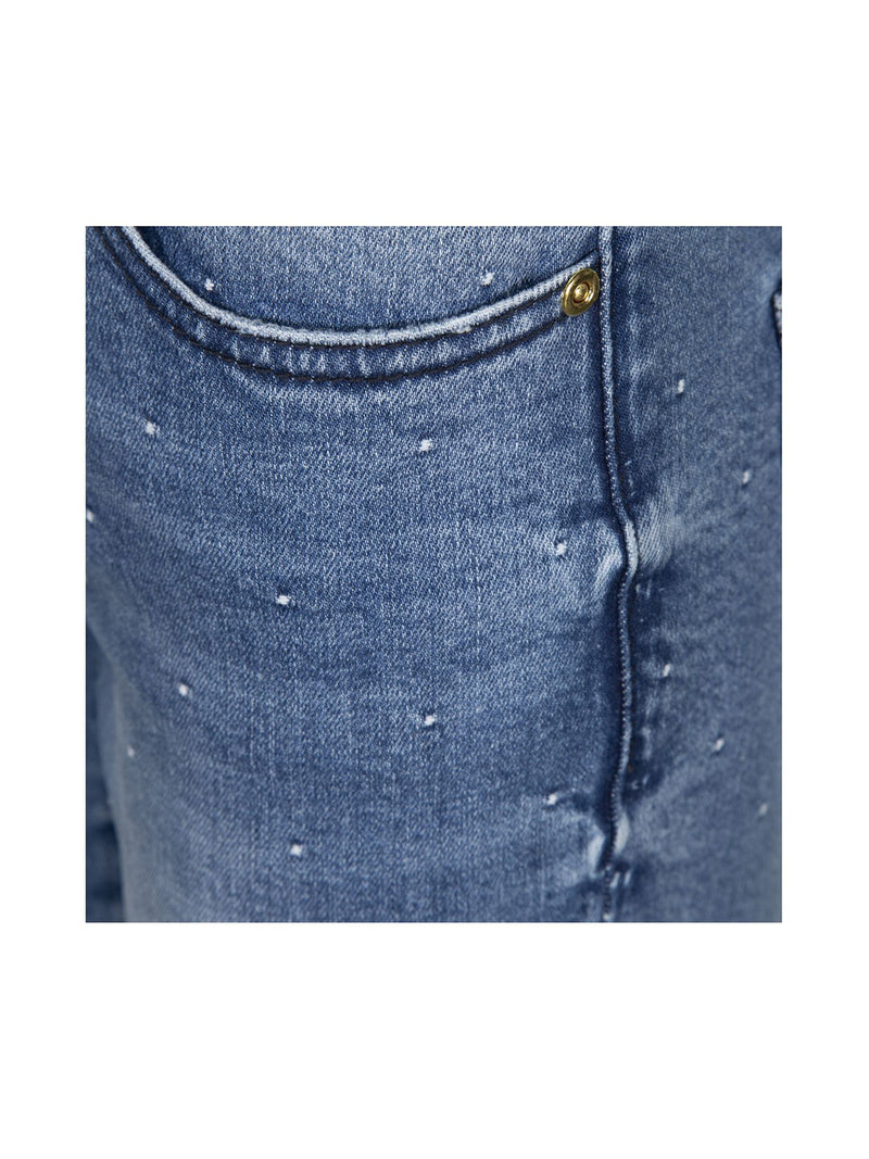 Blue Frayed Star Jeans