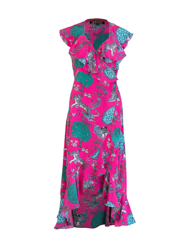 Tiger Salsa Dress Hot Pink