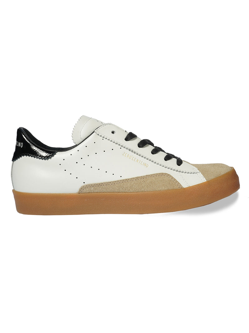 Sco White & Black Trainers