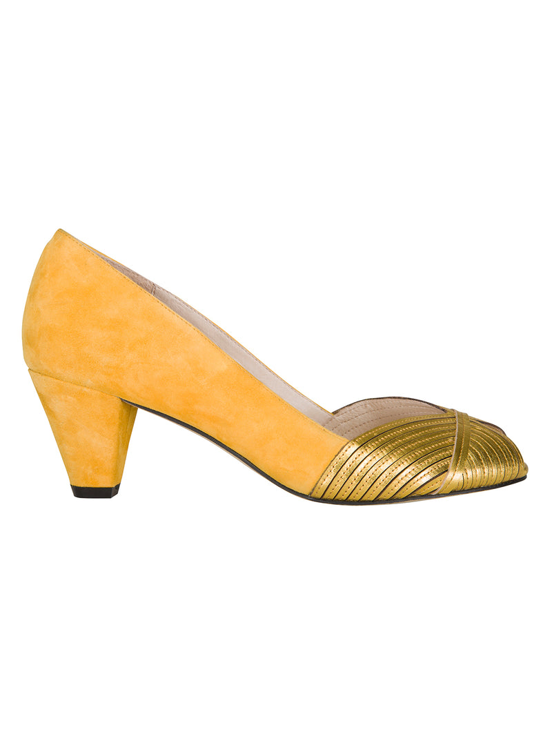 Scallop Stiletto Yellow