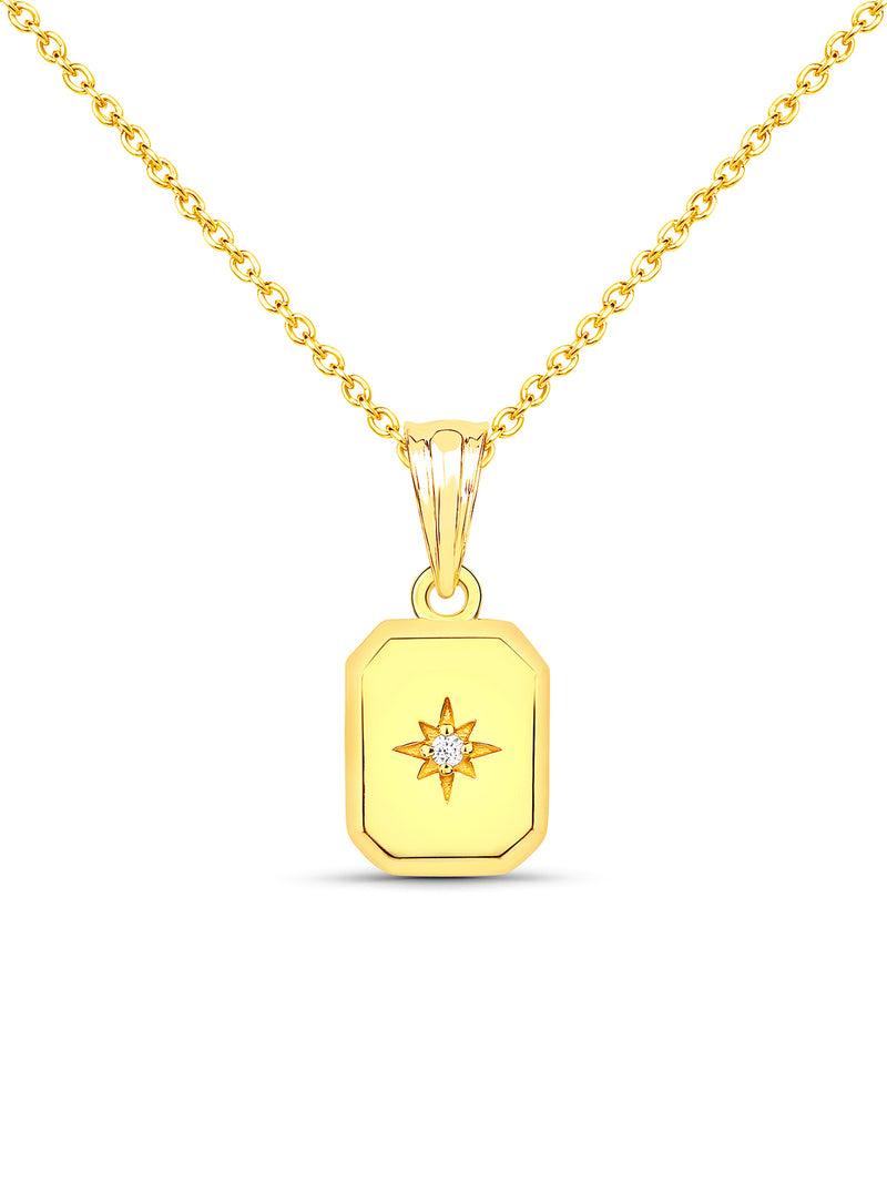 Sierra Square Pendant Necklace