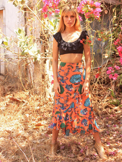 Tiger Mia Wrap Skirt Tangerine