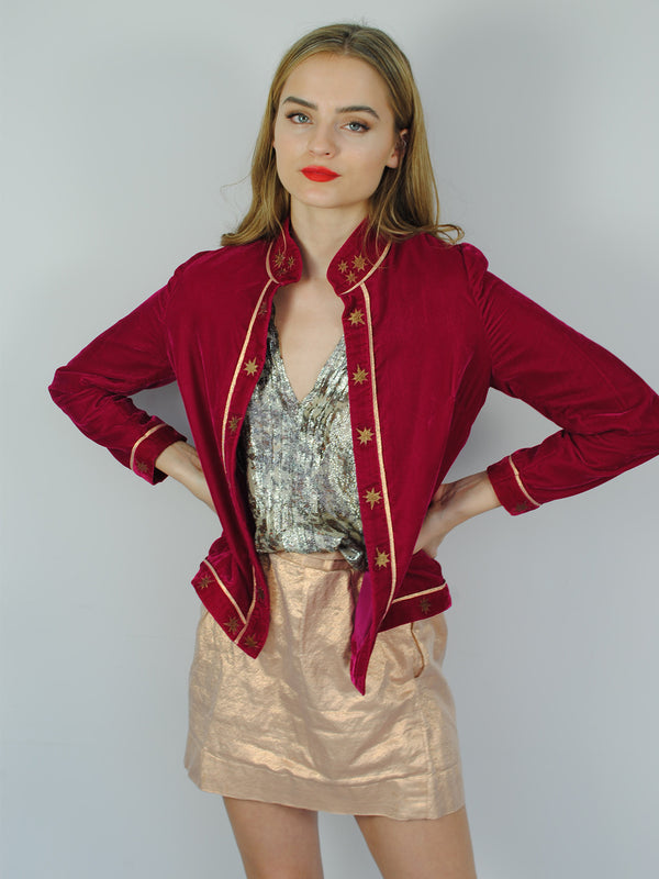 Stella Velvet Jacket Hot Pink
