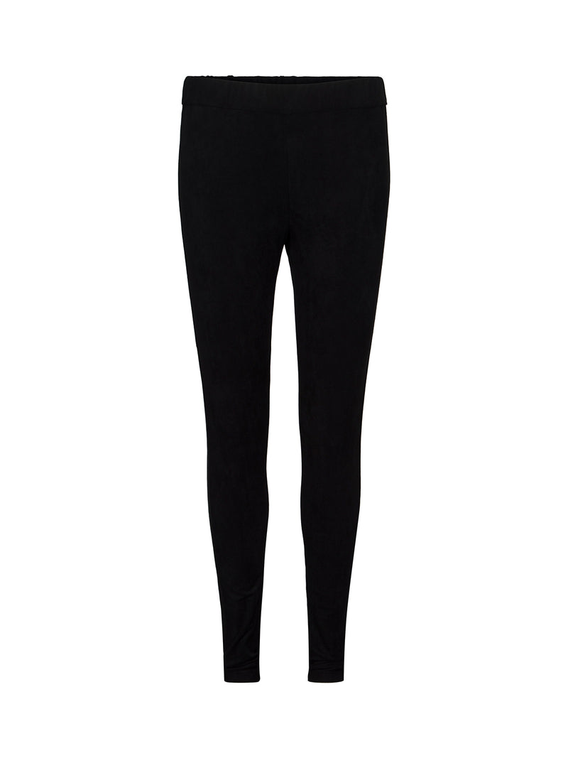 Black Suede Trousers