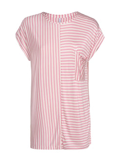 French Rose Striped Top