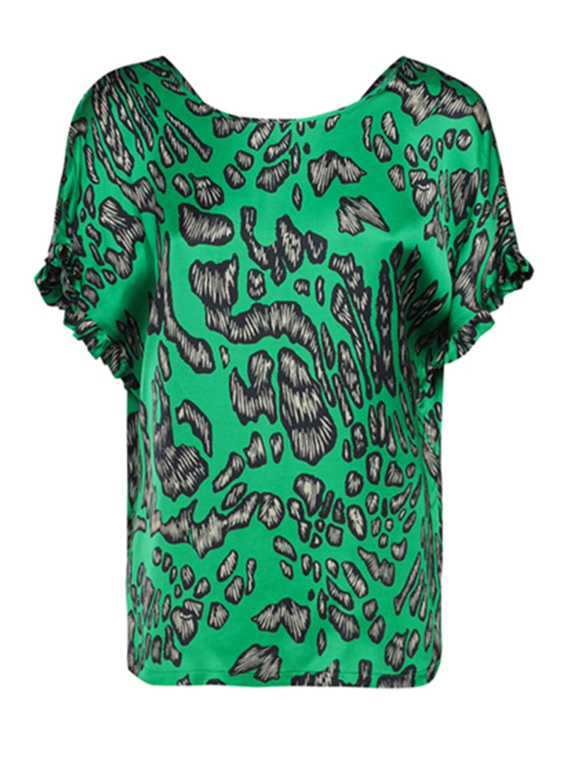 Green Patterned Top