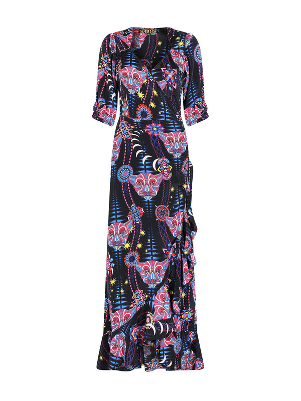 Tribal Sweetheart Flamenco Maxi Dress Black Mamba