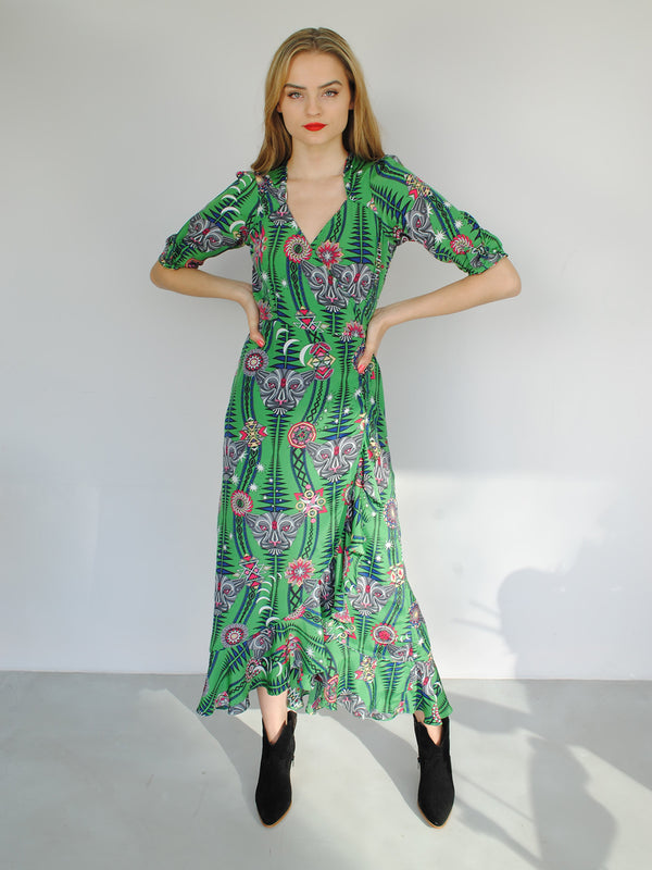 Tribal Sweetheart Flamenco Maxi Dress Watermelon Tourmaline