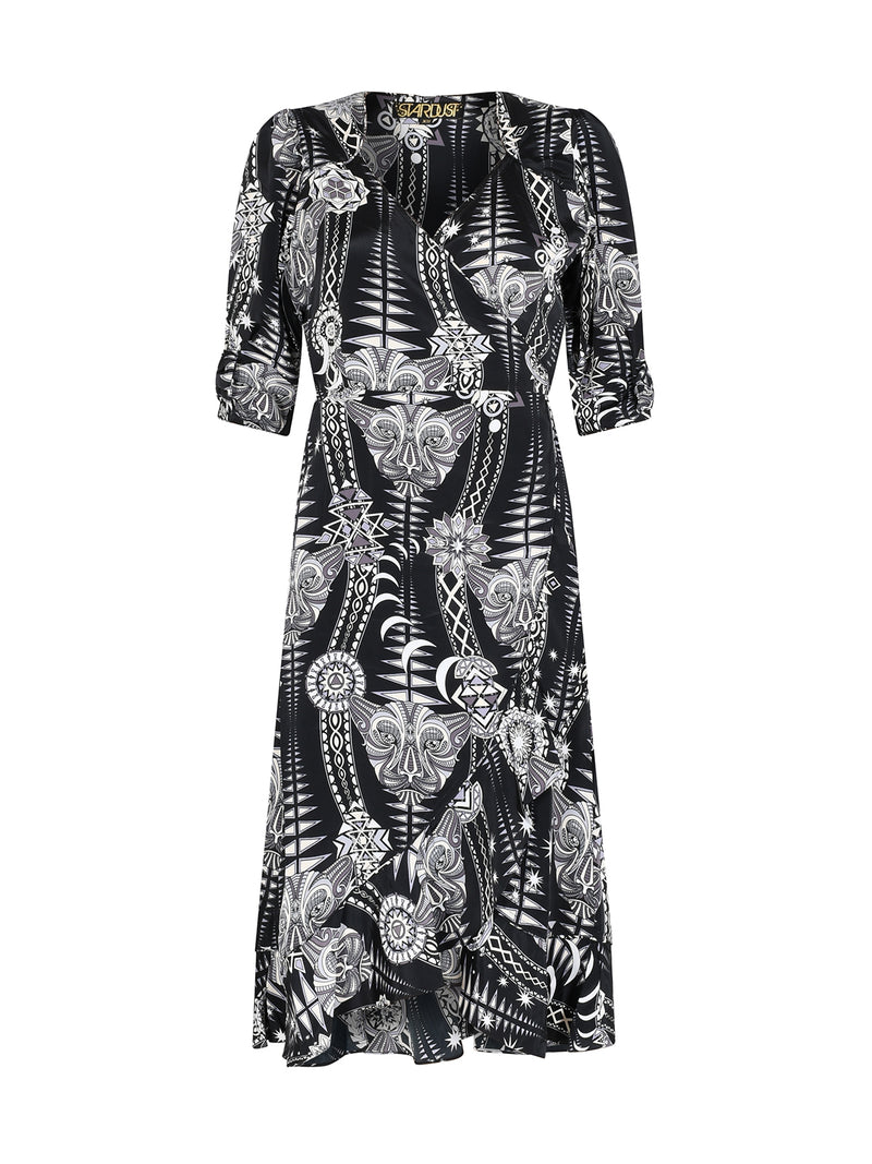 Tribal Sweetheart Midi Dress Black Diamond