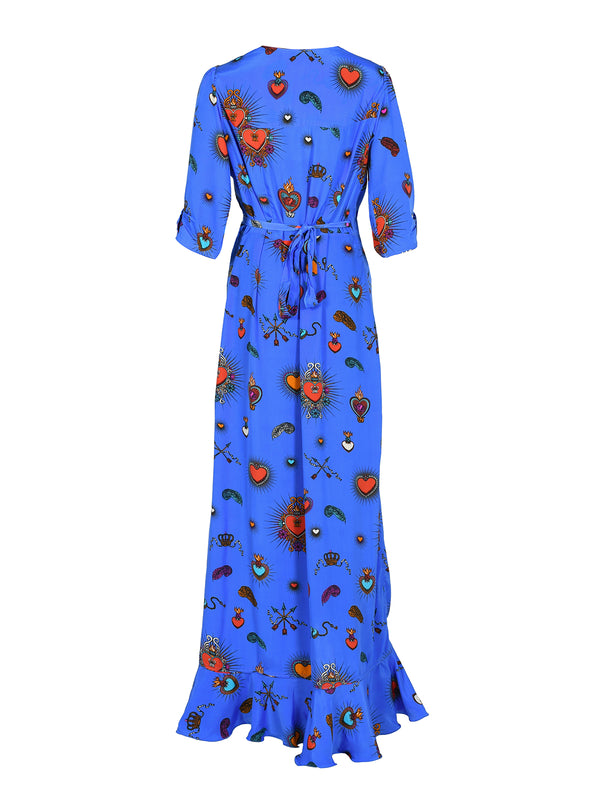 Sweetheart Flamenco Dress Cornflower Blue
