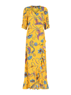 Sweetheart Flamenco Bird Dress Yellow