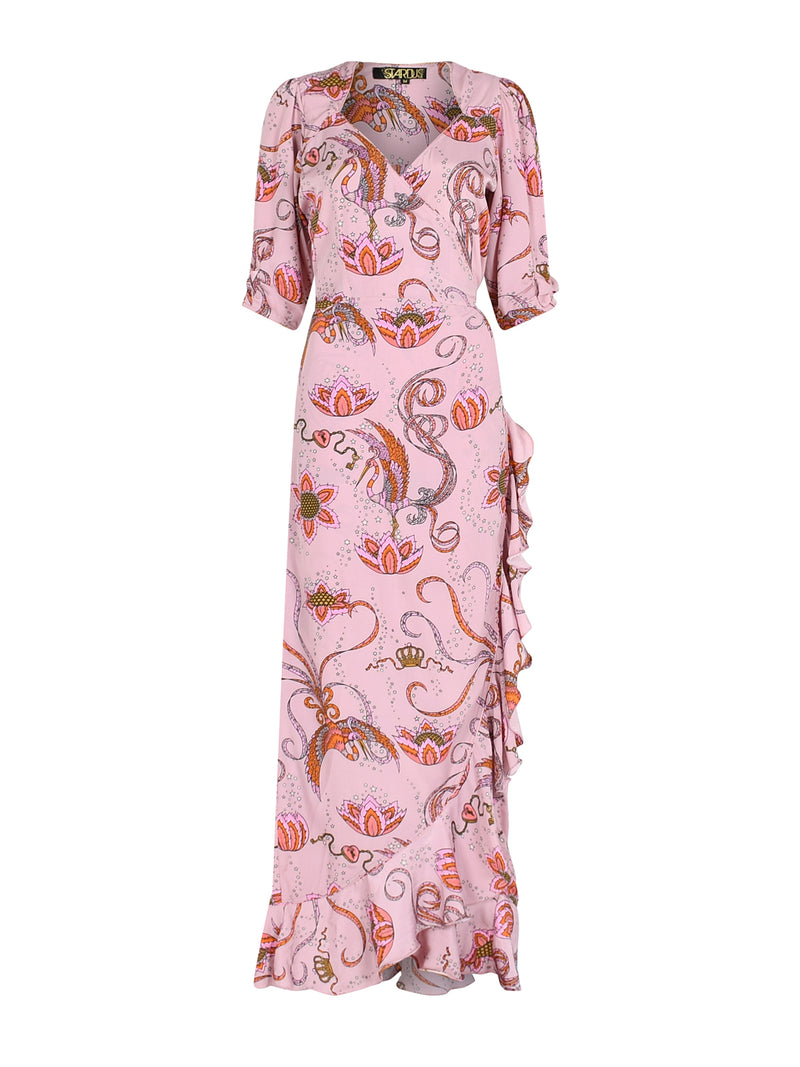 Sweetheart Flamenco Bird Dress Pink
