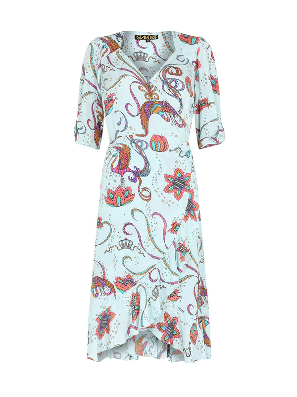 Sweetheart Bird Midi Dress Mint