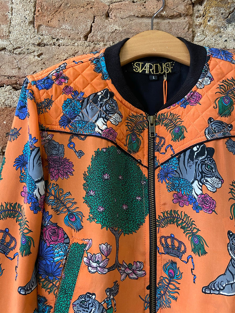 Kids Tiger Bomber Jacket Tangerine