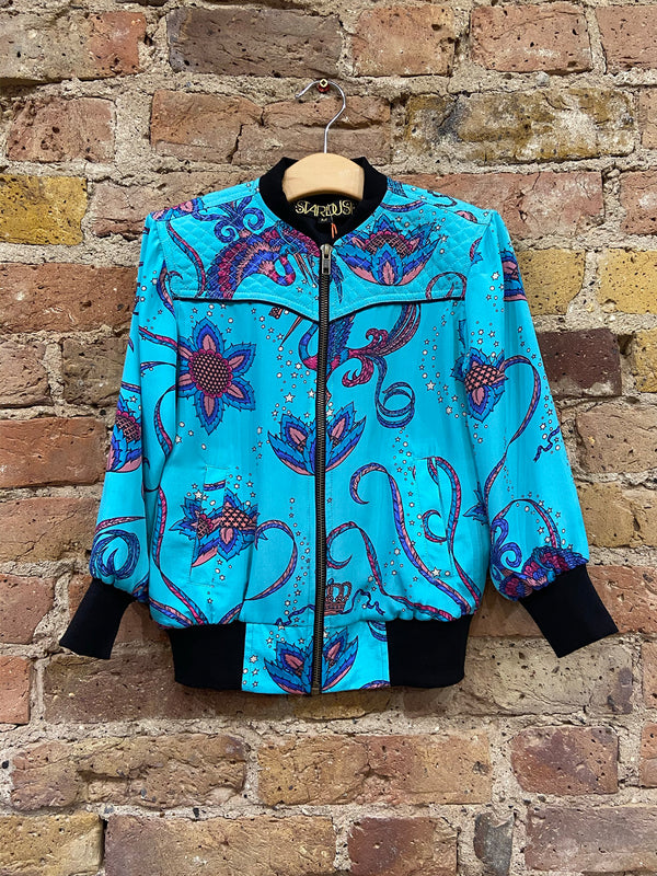 Kids Bird Bomber Jacket Teal