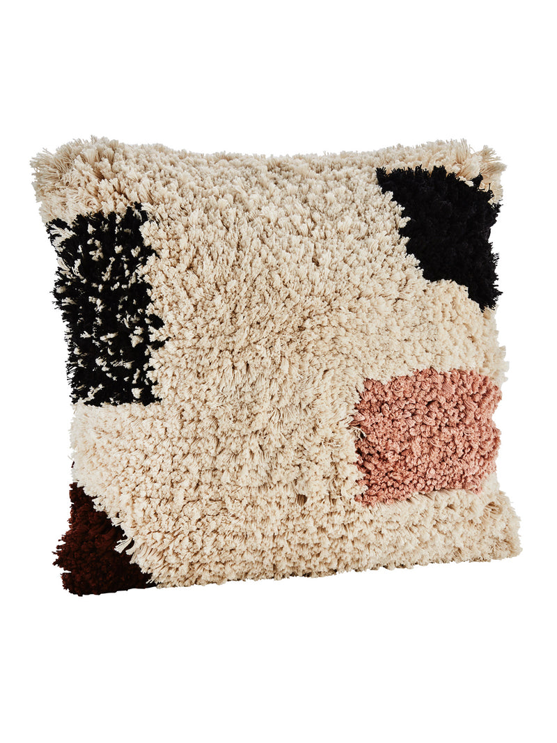 Textured Colour Block Cushion