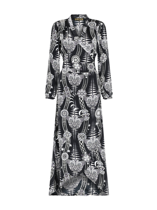Tribal Vivian Dress Black Diamond