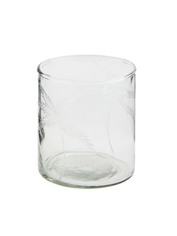 Palm Tree Glass Votive