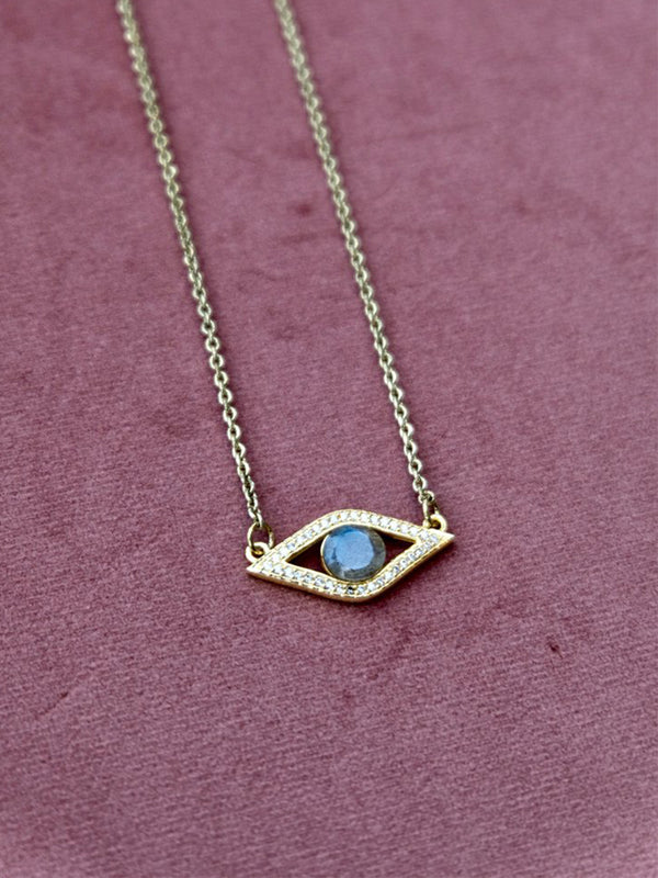 Eye See You Moonstone Necklace